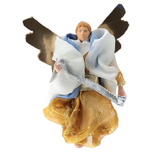 Angel for Nativity scene of 12 cm in terracotta and plastic 1