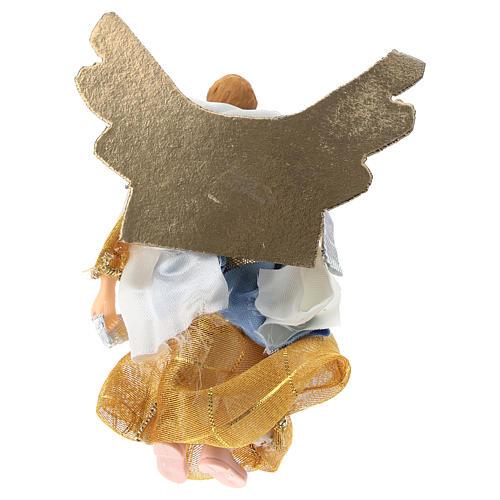 Ángel terracota y plástico belén de 12 cm 2