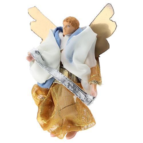Ángel terracota y plástico belén de 12 cm 3