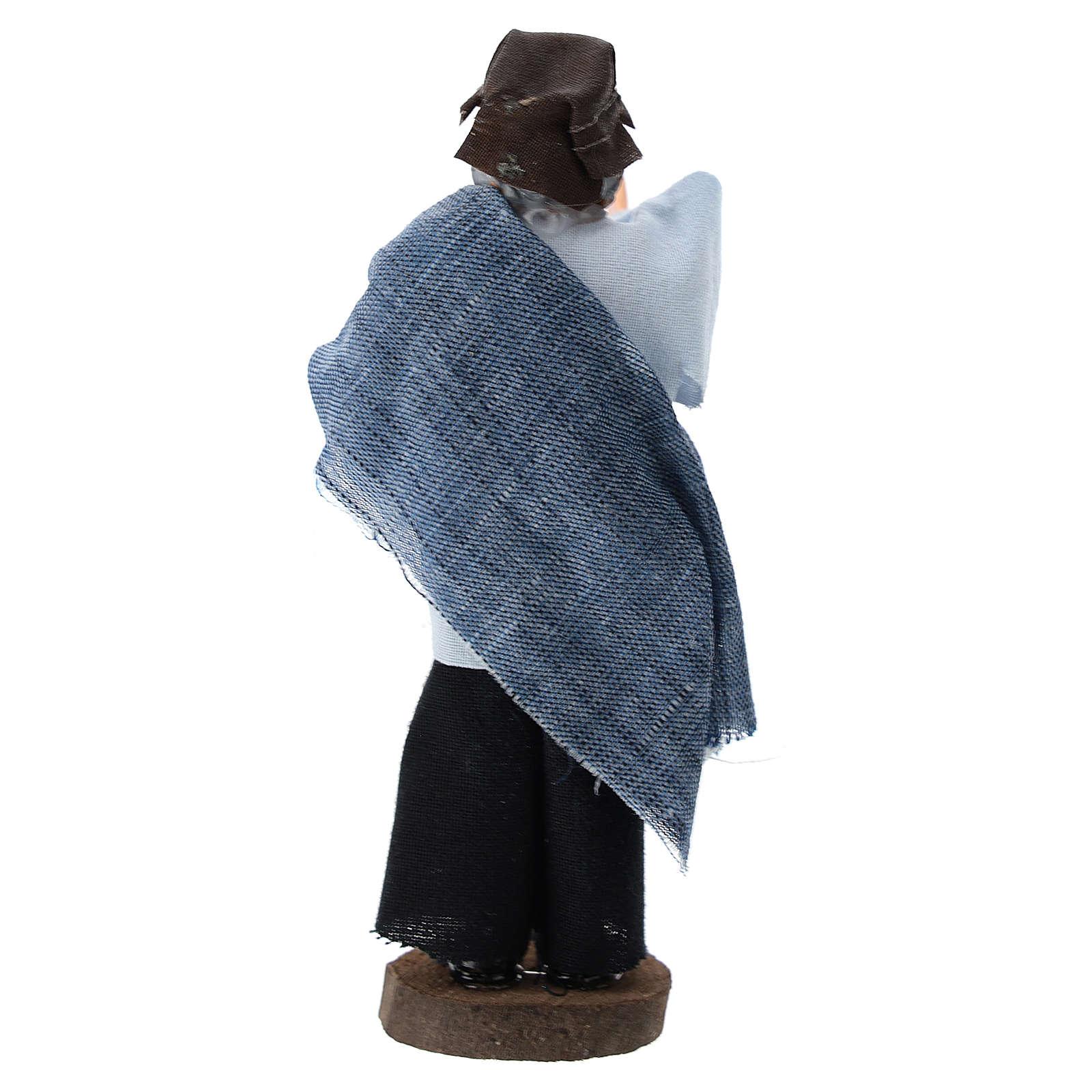 Pastore che dà la voce terracotta e plastica presepe 12 cm 3