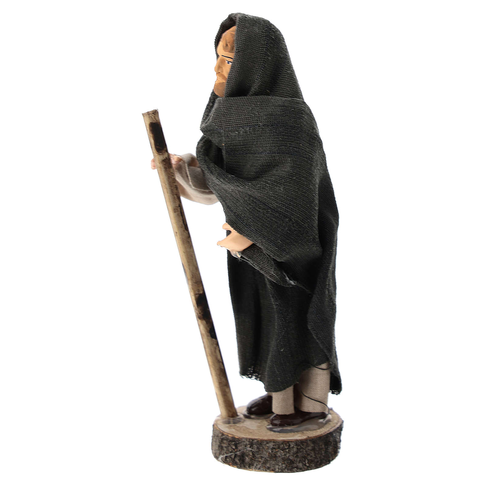 Statue of St. Joseph for Nativity scenes of 12 cm in terracotta and plastic 3