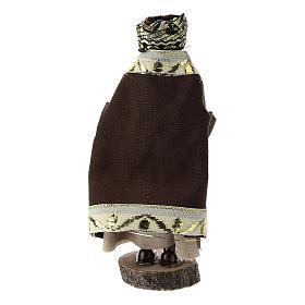 Re moro terracotta e plastica presepe di 12 cm s3