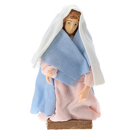 Virgen terracota y plástico belén de 12 cm s1