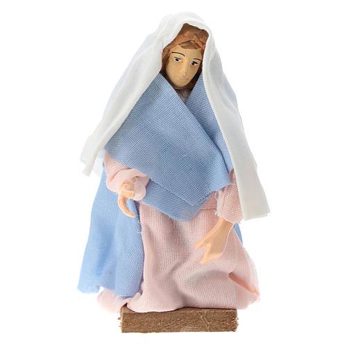 Virgen terracota y plástico belén de 12 cm 1