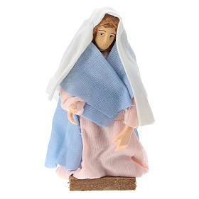 Madonna terracotta e plastica presepe di 12 cm s1