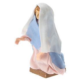 Madonna terracotta e plastica presepe di 12 cm s2