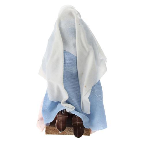 Madonna terracotta e plastica presepe di 12 cm 3
