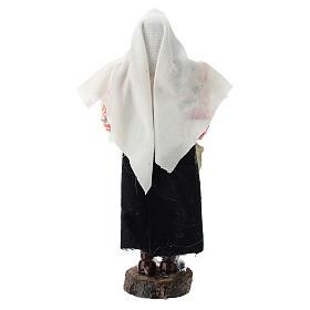 Donna con pentola terracotta e plastica presepe di 12 cm s3