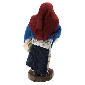 Washerwoman for Nativity scenes of 12 cm in terracotta and plastic s3