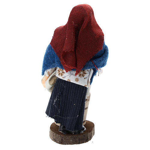 Washerwoman for Nativity scenes of 12 cm in terracotta and plastic 3