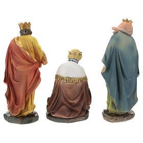 Set of 3 Wise Men in resin for Nativity scene of 15 cm s5