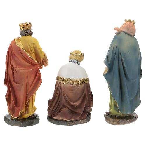 Set of 3 Wise Men in resin for Nativity scene of 15 cm 5