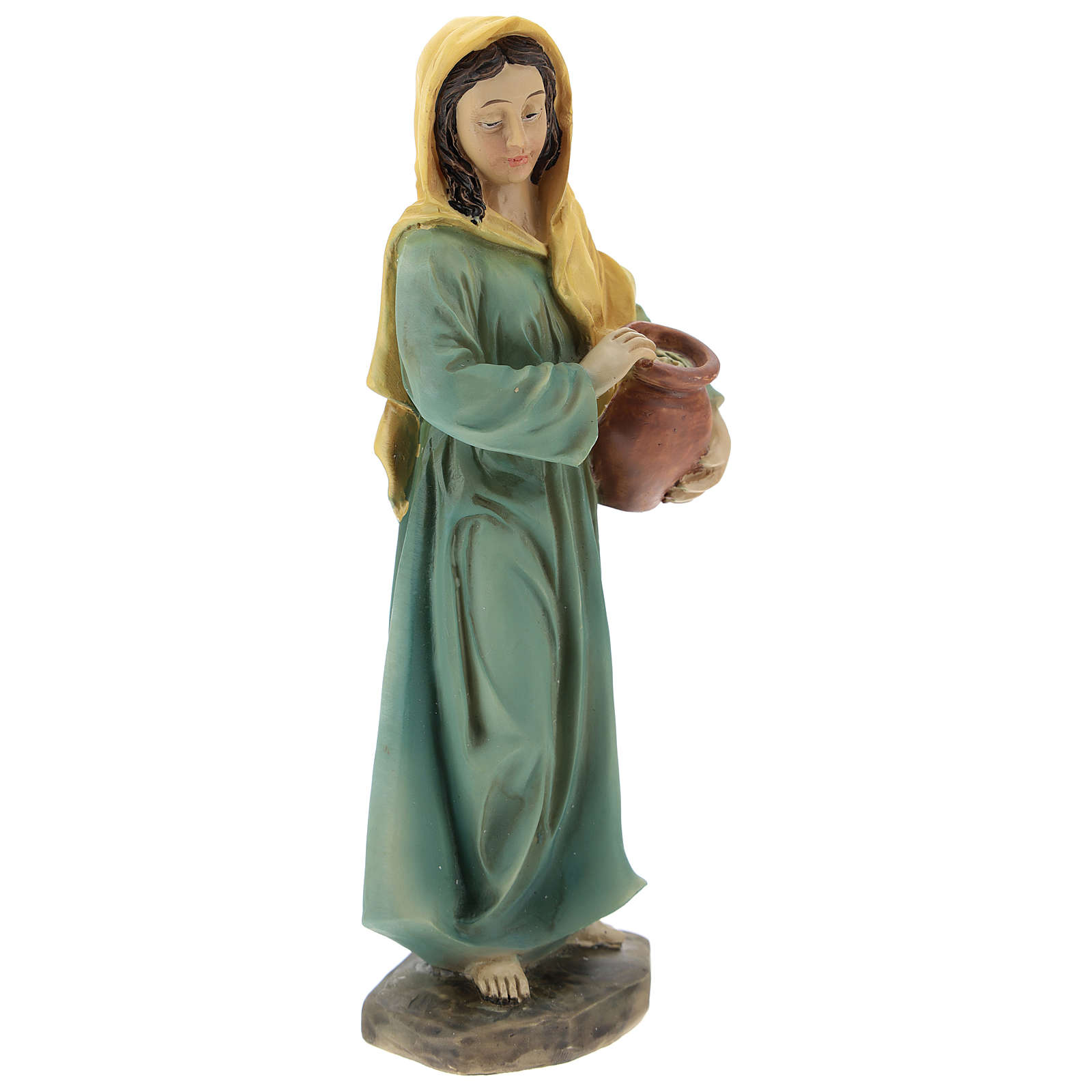 Resin shepherdesses for Nativity scenes of 15 cm 3 pieces 3