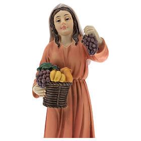 Resin shepherdesses for Nativity scenes of 15 cm 3 pieces s2