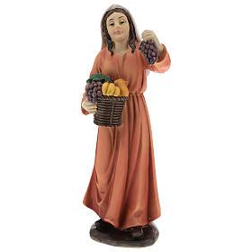 Resin shepherdesses for Nativity scenes of 15 cm 3 pieces s3