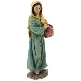 Resin shepherdesses for Nativity scenes of 15 cm 3 pieces s5