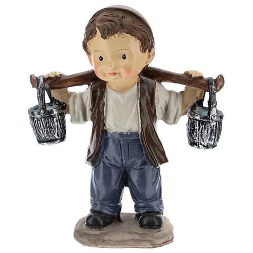 Water seller for modern Nativity scene in resin 9 cm 1