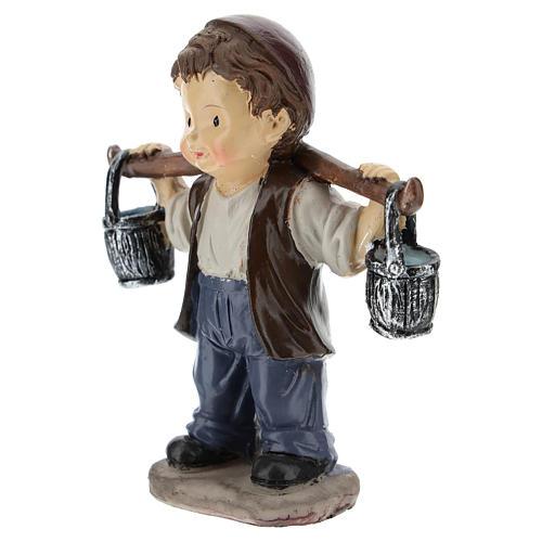 Water seller for modern Nativity scene in resin 9 cm 2