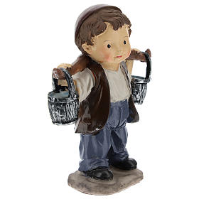 Water carrier in resin, modern style 9 cm nativity s3