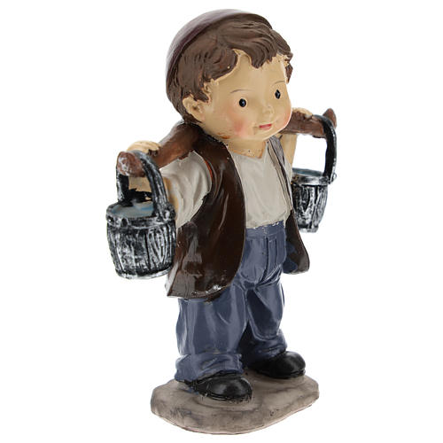 Water carrier in resin, modern style 9 cm nativity 3