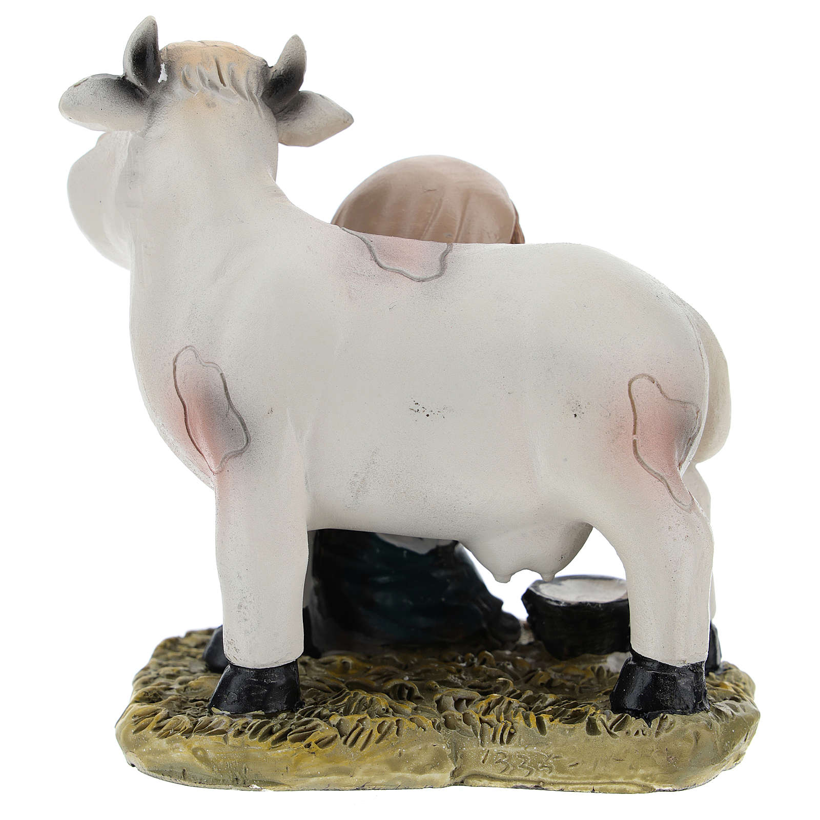 Milker in resin for modern Nativity scene of 9 cm 3