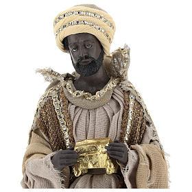 Reyes Magos 40 cm de resina con vestidos beises s2