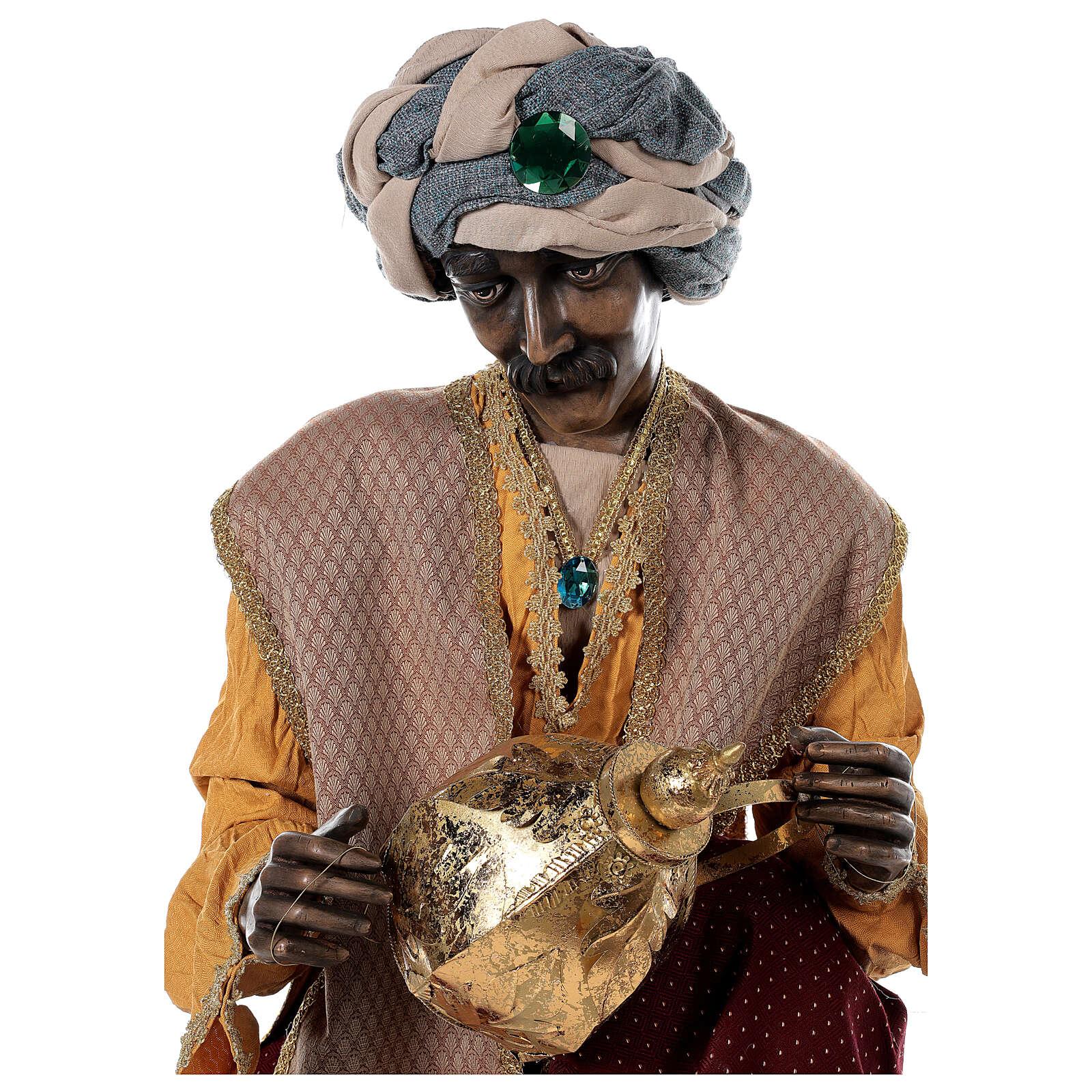 Rey Magos Lifesize 170 cm de resina y tejido 3