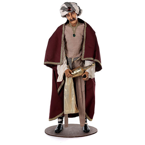 Rey Magos Lifesize 170 cm de resina y tejido 6