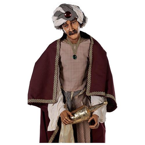 Rey Magos Lifesize 170 cm de resina y tejido 9