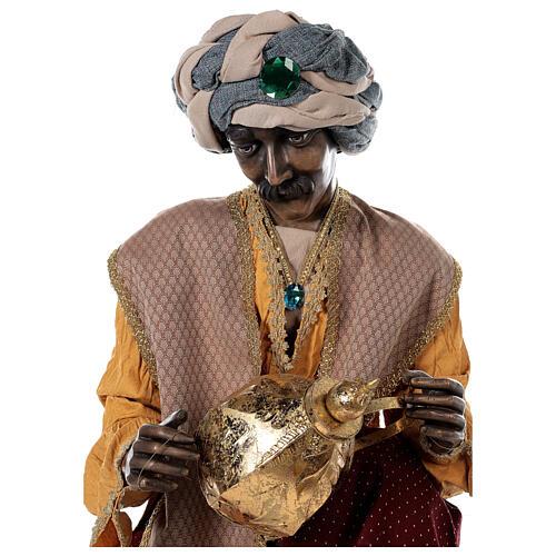 Rey Magos Lifesize 170 cm de resina y tejido 10