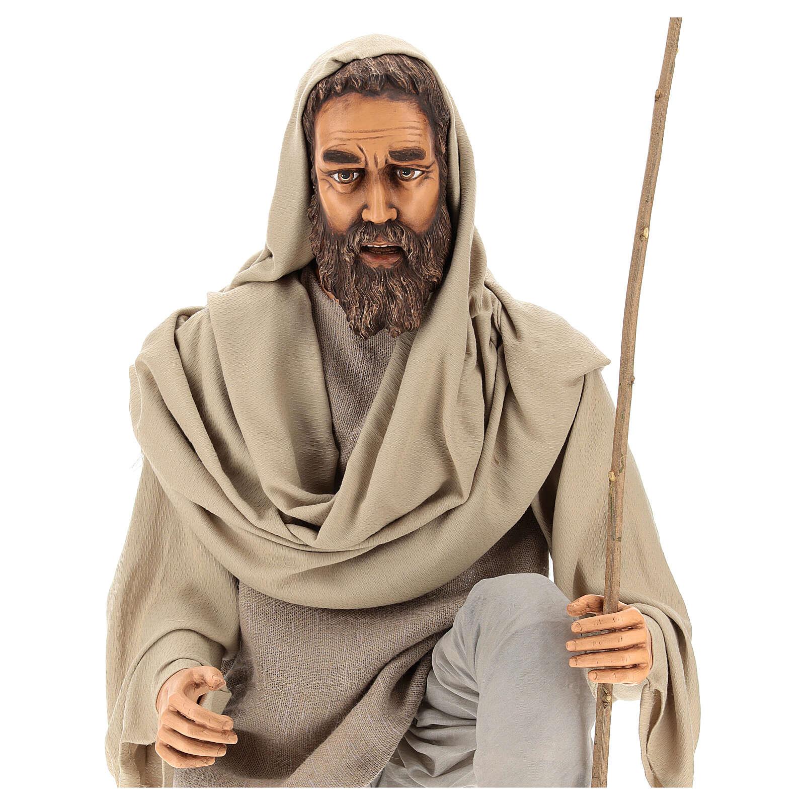 Nativity scene shepherd 170 cm Lifesize, in resin and fabric 3