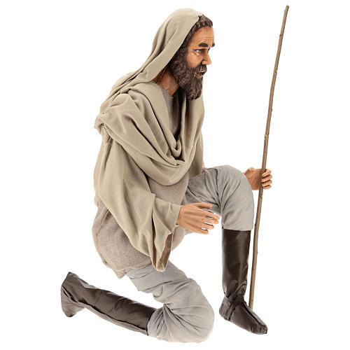 Pastor 170 cm Lifesize de rodillas resina y tejido 4
