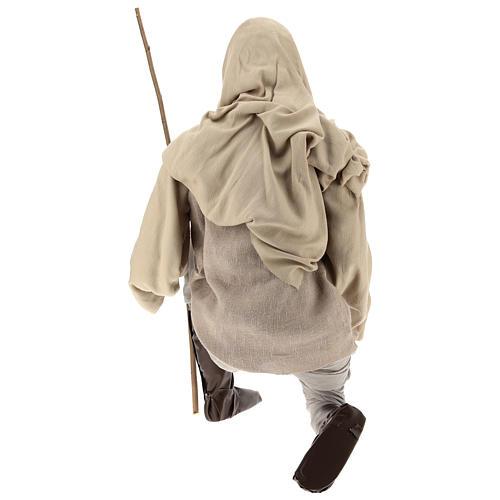 Pastor 170 cm Lifesize de rodillas resina y tejido 5