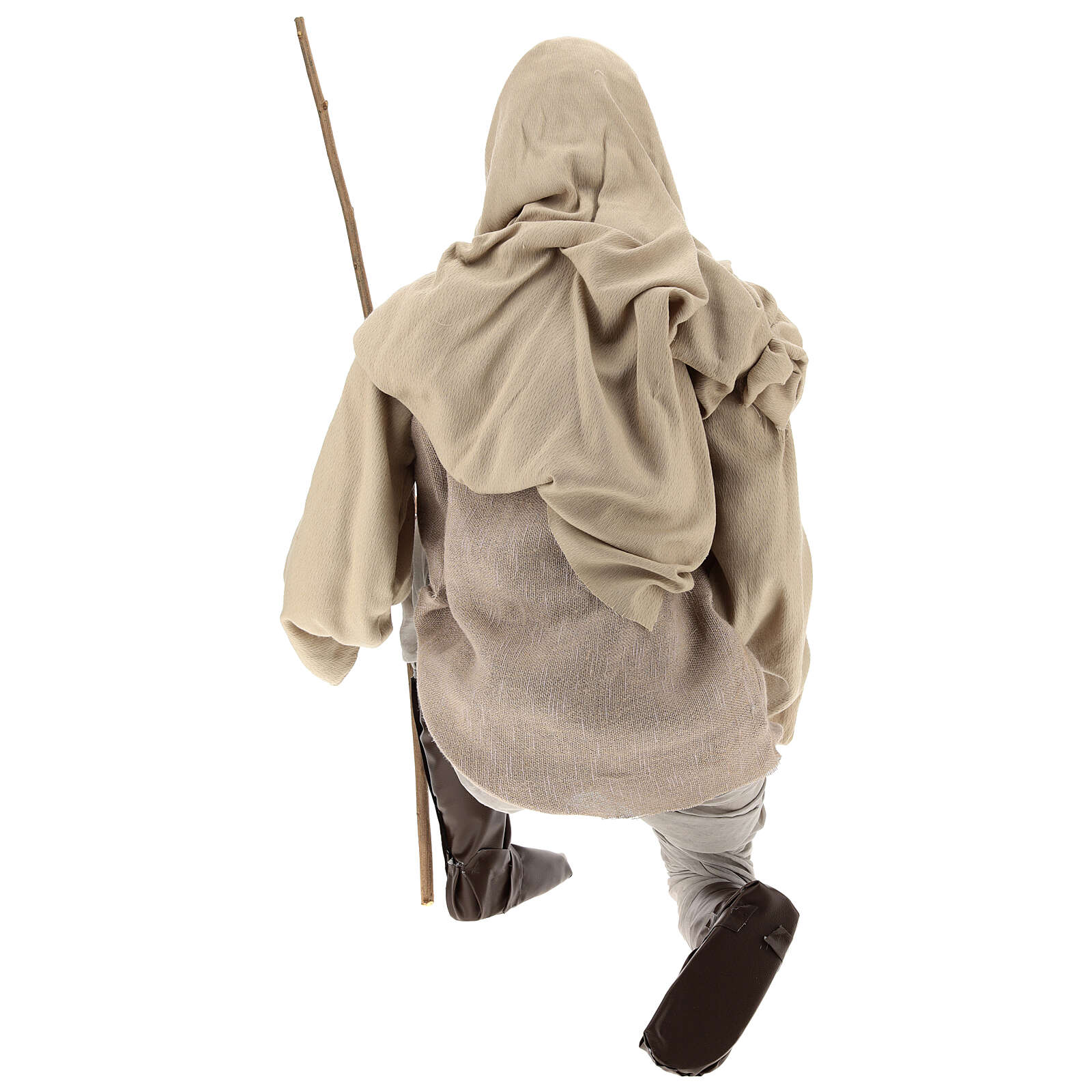 Shepherd 170 cm Life size kneeling in resin and cloth 3