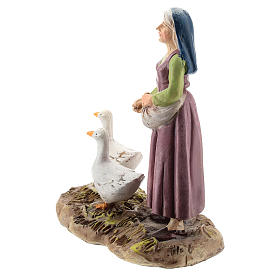 Nativity scene character, woman with geese Martino Landi collection 12 cm s2