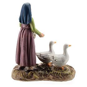 Pastora con gansos línea Martino Landi belén 12 cm s4