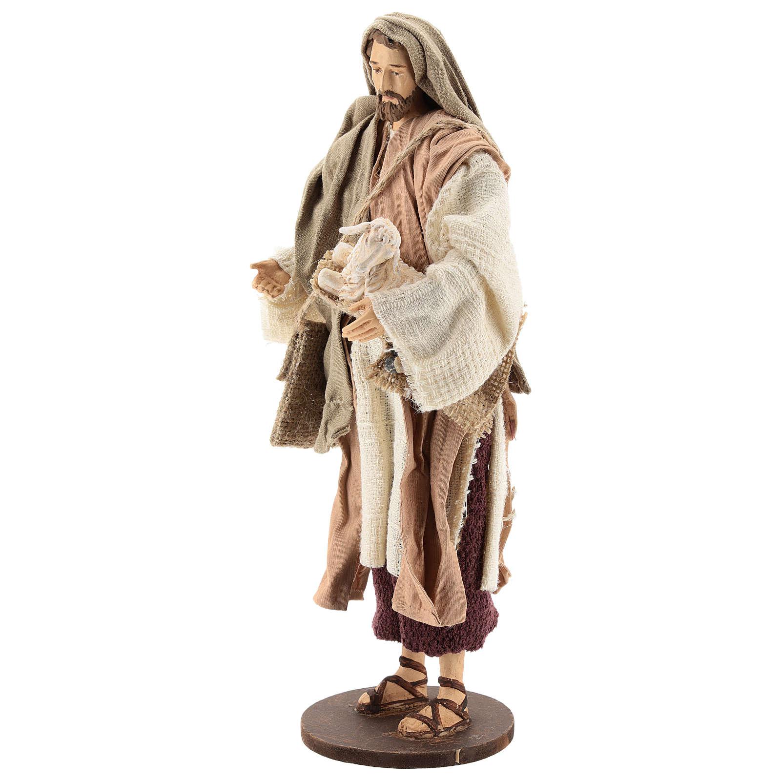 Pastor 30 cm de pie con ovejita Shabby Chic 3