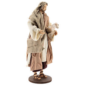 Pastor 30 cm de pie con ovejita Shabby Chic s4