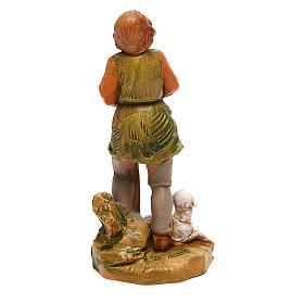 Pastor con oveja sentada Fontanini para belén de 10 cm s4
