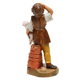 Joven con oveja en brazos Fontanini para belén de 10 cm s4