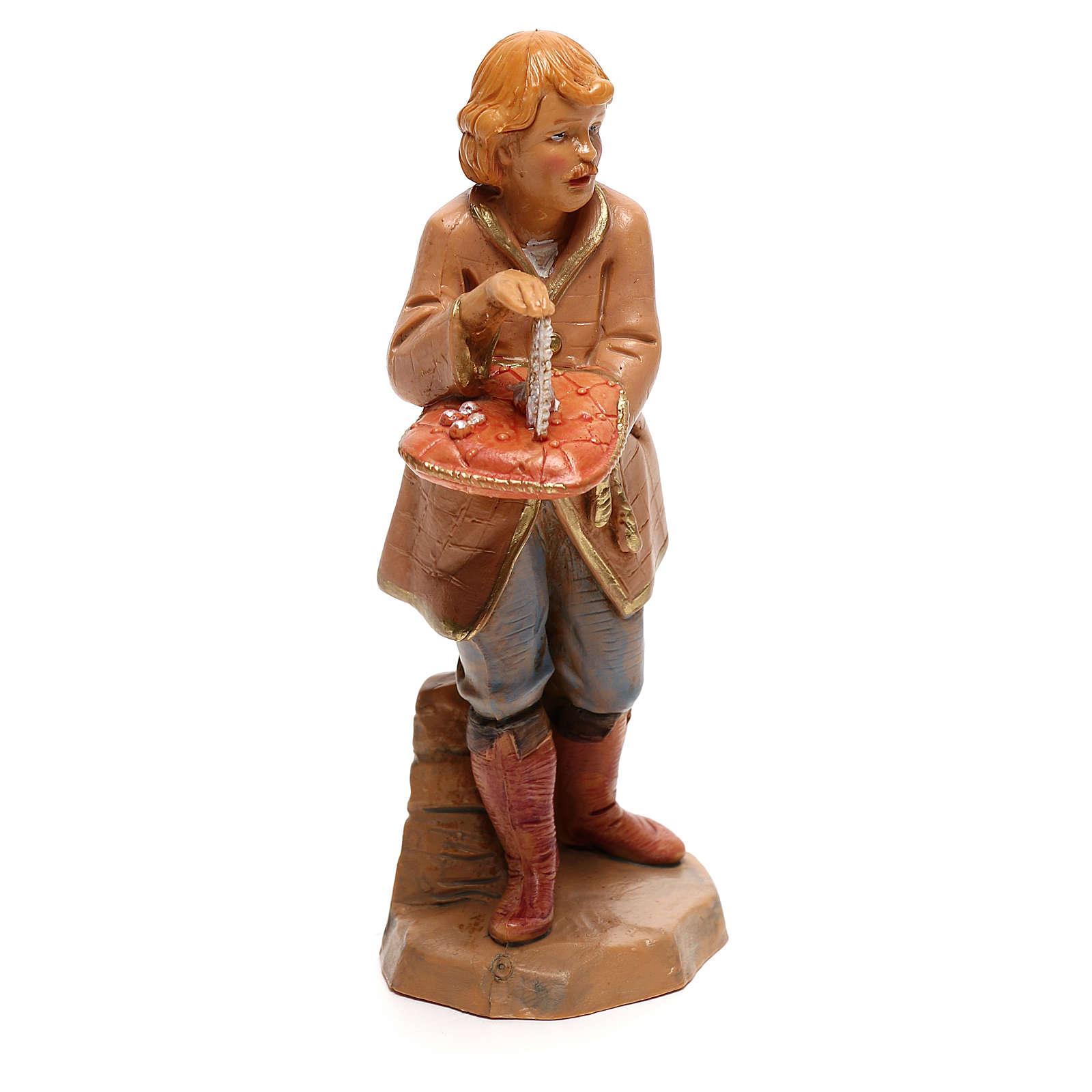 Vendedor joyas Fontanini para belén de 12 cm 4