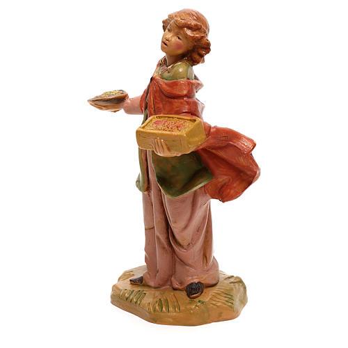 Vendedora de especiarias para presépio Fontanini com figuras de 12 cm de altura média 2
