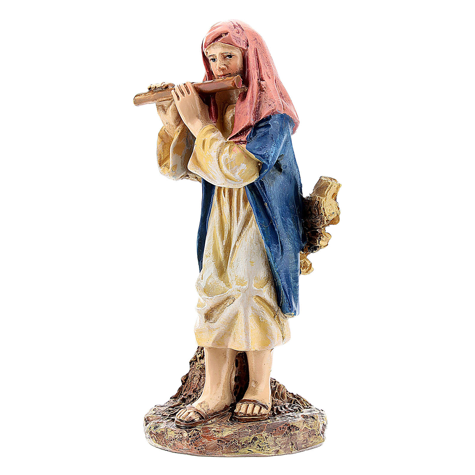 Pastor con flauta línea Martino Landi belén 10 cm 3