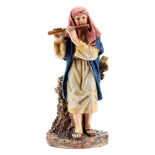Pastor con flauta línea Martino Landi belén 10 cm 1