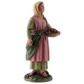 Pastorella cesto di frutta linea Martino Landi per presepi di 12 cm s3