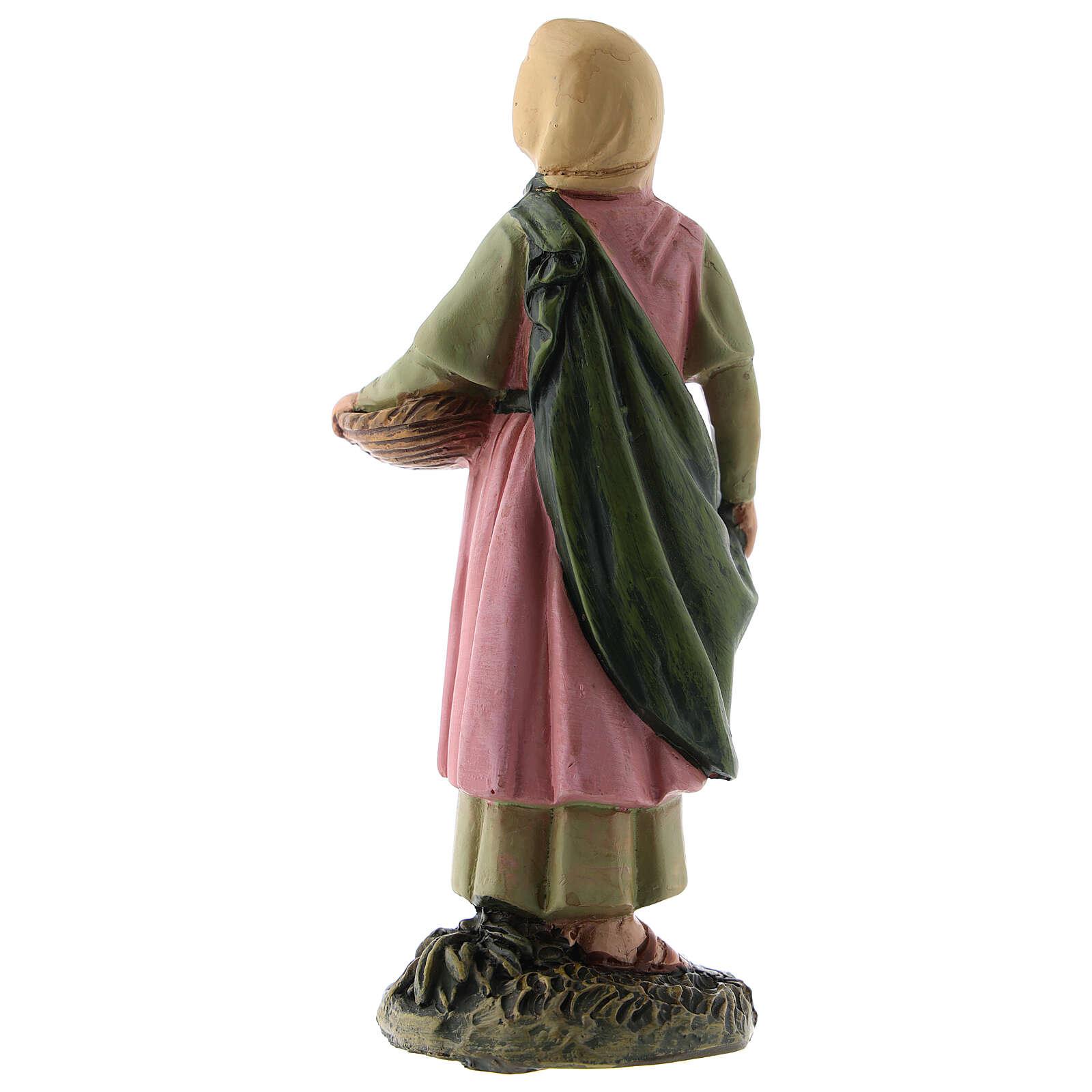 Shepherdess with fruit basket Martino Landi line, for 12 cm nativity 3