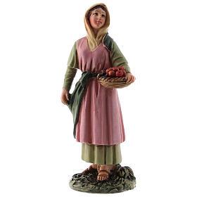 Shepherdess with fruit basket Martino Landi line, for 12 cm nativity s1