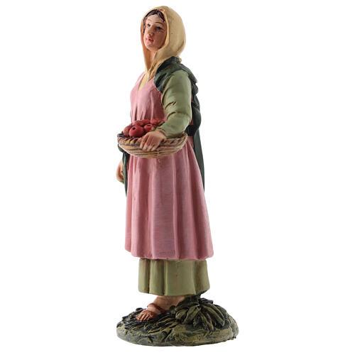 Shepherdess with fruit basket Martino Landi line, for 12 cm nativity 2