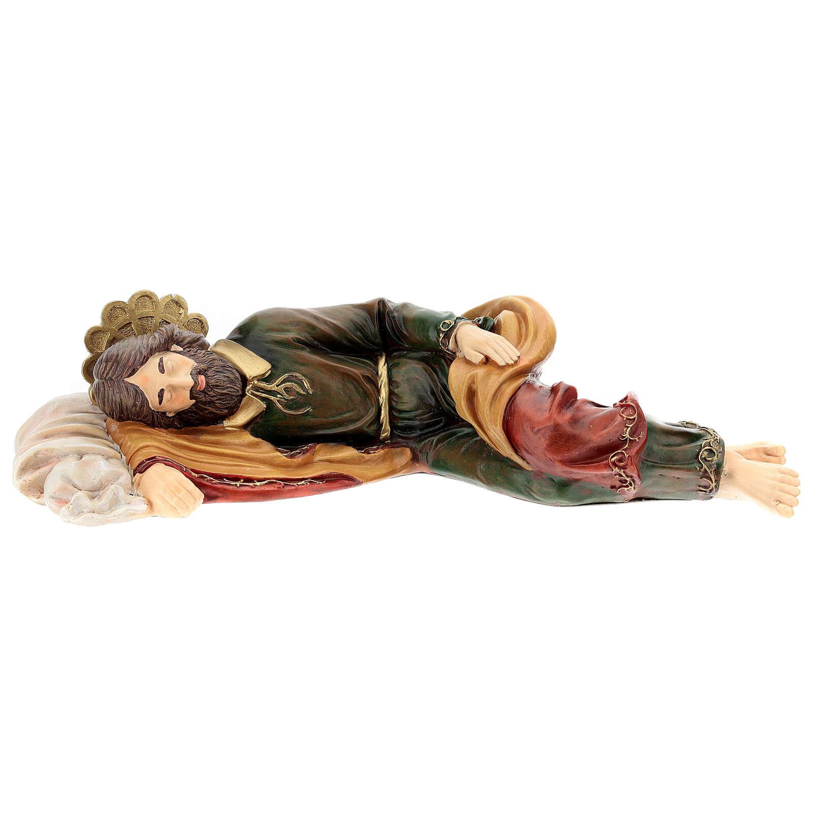 Saint Joseph endormi résine Fontanini 38 cm 4