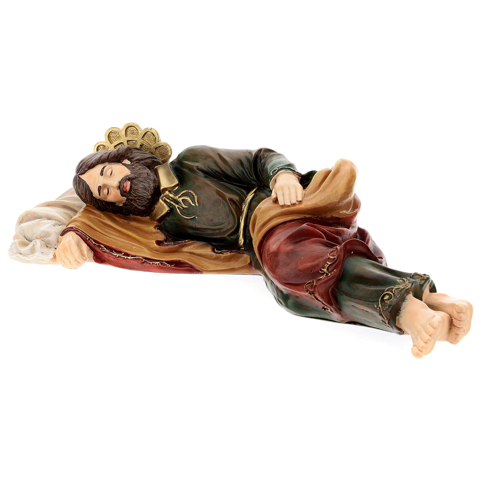 San Giuseppe dormiente resina Fontanini 38 cm 4